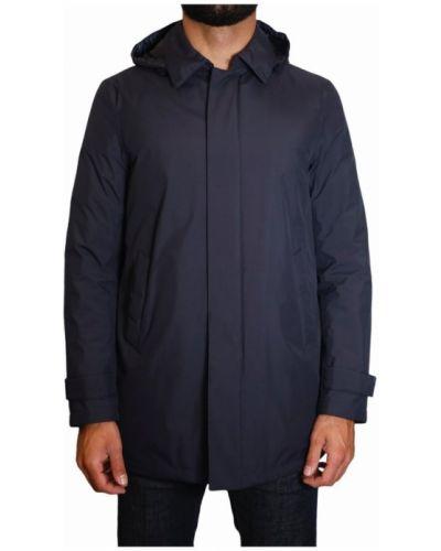 Z rękawami klasyczny płaszcz z kieszeniami od płaszcza przeciwdeszczowego Herno