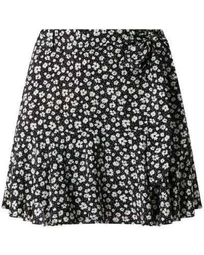 Czarna spódnica mini rozkloszowana z falbanami Review