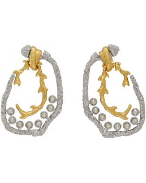 Серьги-гвоздики серьги-кольца золотые Chloe