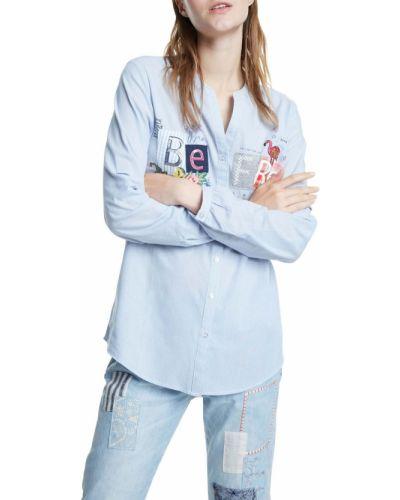Koszula jeansowa bawełniana z długimi rękawami Desigual