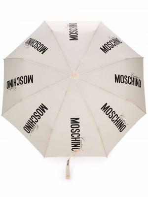 Parasol z printem - biały Moschino