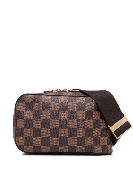 Коричневая поясная сумка с принтом Louis Vuitton