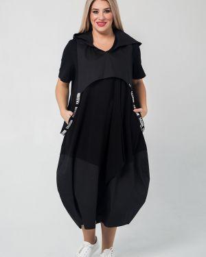 Платье мини на бретелях с капюшоном Luxury