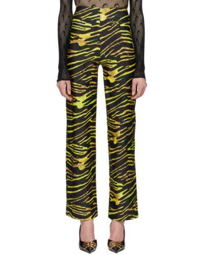 Szerokie spodnie elastyczne z wzorem Marine Serre