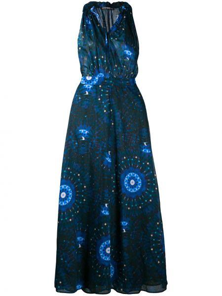 Платье с поясом с абстрактным принтом расклешенное Department 5