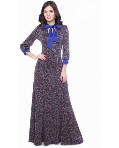 Платье макси осеннее синее Olivegrey
