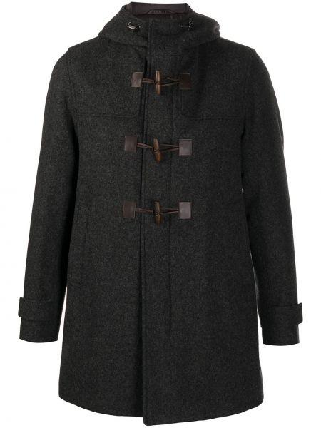 Klasyczny wełniany długi płaszcz z kieszeniami z długimi rękawami Herno