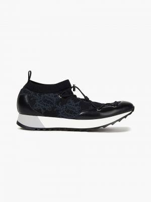 Buty sportowe skorzane - czarne Emilio Pucci