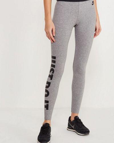 Серые леггинсы Nike