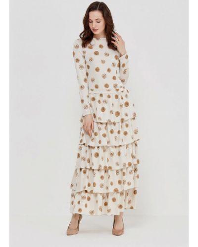 Платье весеннее бежевое Adzhedo