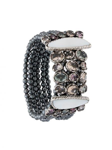 Черный браслет металлический Camila Klein