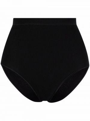 Czarne majtki z wysokim stanem bawełniane Baserange