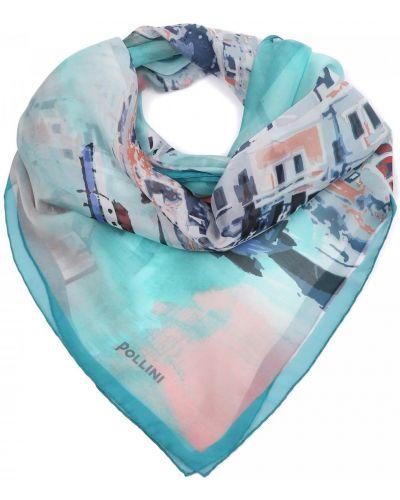 Текстильный комбинированный платок Pollini