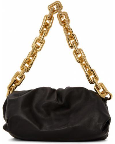 Цепочка из золота черный через плечо Bottega Veneta