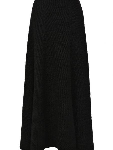Черная юбка из альпаки Tegin