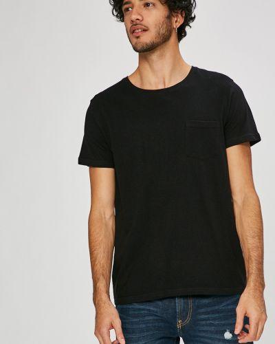 Черная футболка однотонная Sublevel