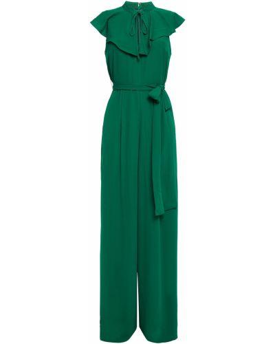 Текстильный зеленый комбинезон с карманами на крючках Mikael Aghal