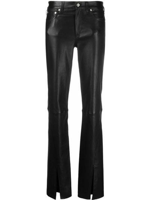 Spodnie skorzane - czarne Rag & Bone