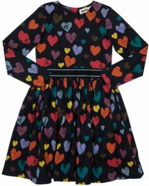Sukienka z rękawem długo z popeliny Molo