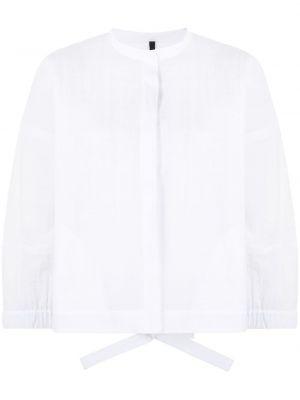 Хлопковый прямой белый пиджак Sara Lanzi