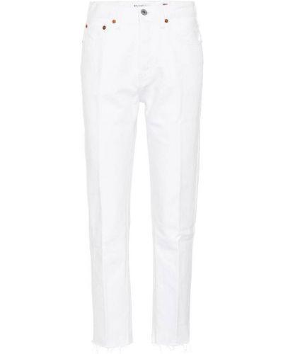Z wysokim stanem bawełna prosto bawełna jeansy Re/done