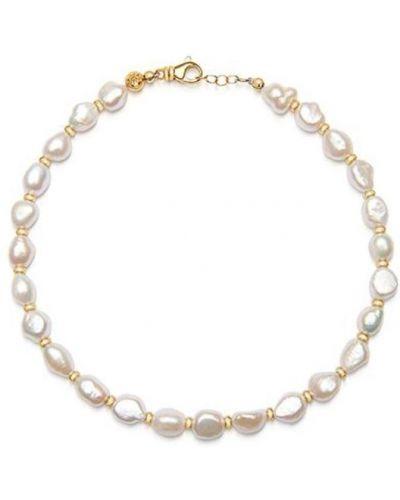 Biały złoty choker perły Nialaya
