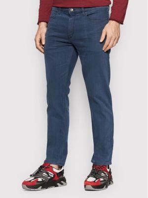 Mom jeans - granatowe Hugo