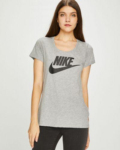 Спортивная футболка из вискозы серая Nike Sportswear