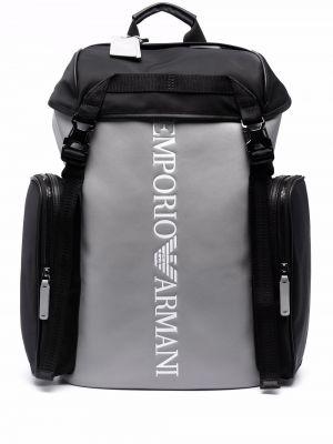 Plecak z printem - biały Emporio Armani