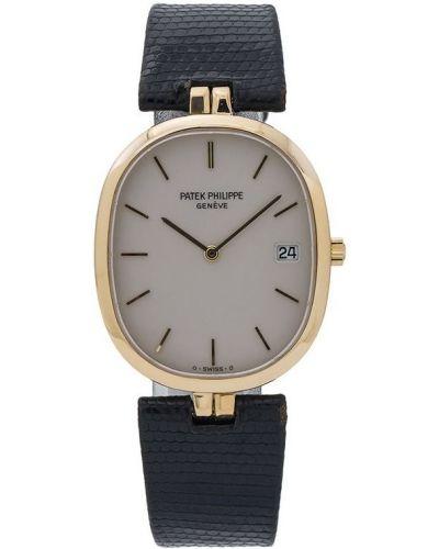 Белые кожаные с ремешком часы Patek Philippe