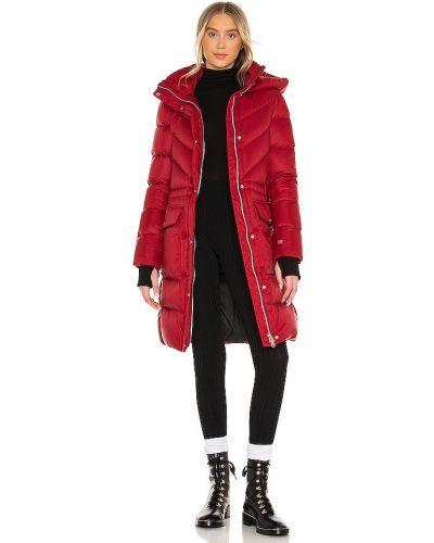 Пуховая красная куртка с капюшоном Soia & Kyo