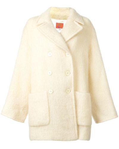 Шерстяное длинное пальто с капюшоном Kenzo Pre-owned