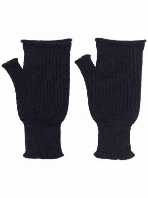 Rękawiczki bez palców wełniane - niebieskie Maison Margiela