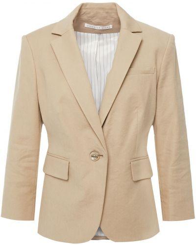 Льняной бежевый пиджак с подкладкой Veronica Beard