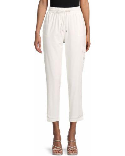 Повседневные белые укороченные брюки с карманами Calvin Klein