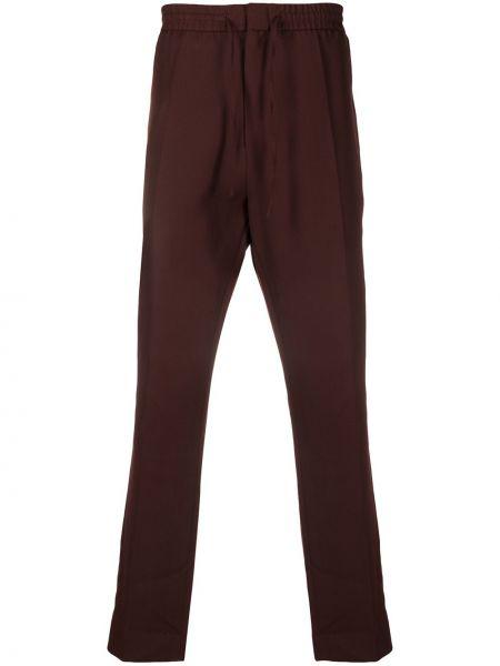 Шерстяные коричневые брюки чиносы с завязками с поясом Cmmn Swdn