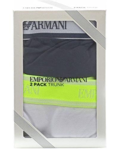 Biały bawełna bawełna bokserki Emporio Armani Kids