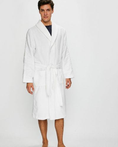 Халат белый с узором Calvin Klein Underwear