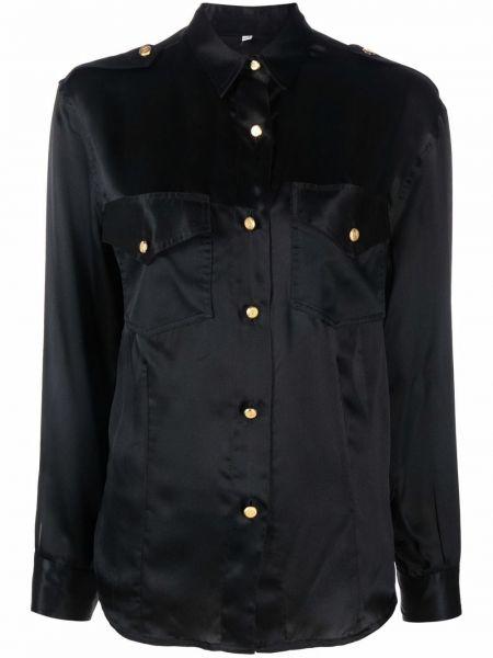 Koszula z jedwabiu - czarna Chanel Pre-owned