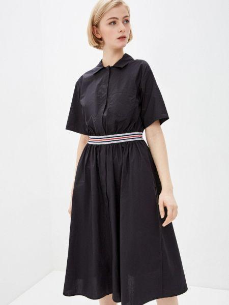 Платье платье-рубашка черное Baon