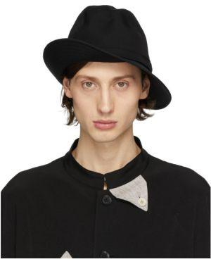 Шляпа черный шерстяная Yohji Yamamoto