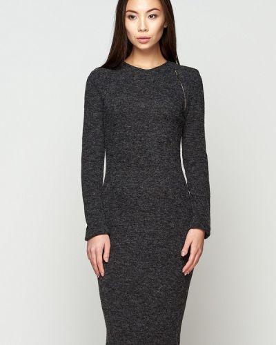 Платье осеннее серое A-dress