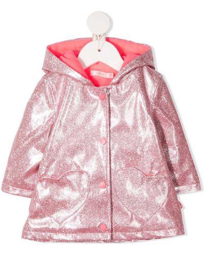 Klasyczna różowa długa kurtka z kapturem Billieblush