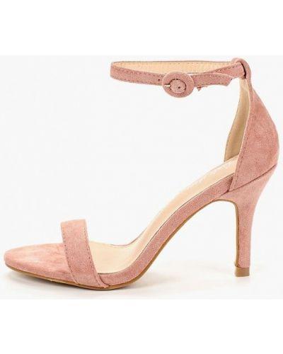 Босоножки на каблуке розовый Style Shoes