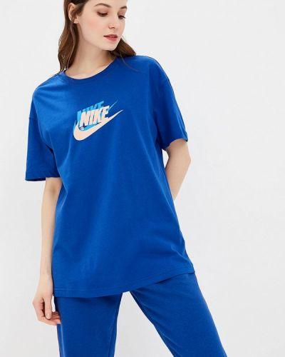 Синее поло турецкое Nike