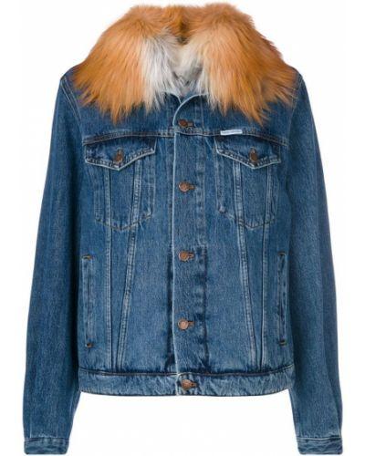Джинсовая куртка из кролика с мехом Forte Couture