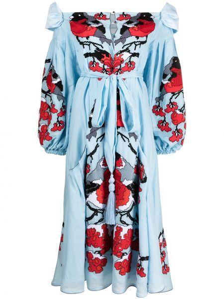 Шелковое платье - синее Yuliya Magdych