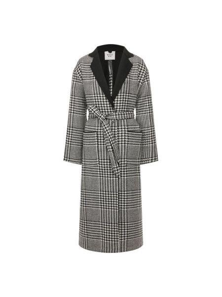 Однобортное приталенное шерстяное пальто с поясом Weill