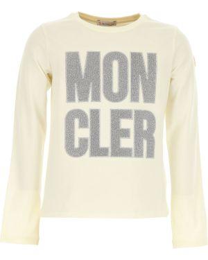 Koszulka polo długo biały Moncler
