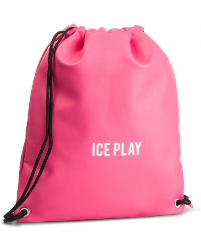 Skórzany plecak różowy sztuczna skóra Ice Play